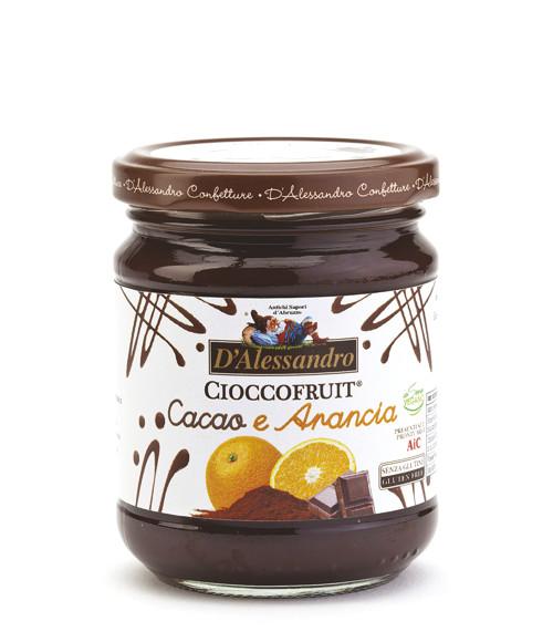 Конфитюр Шоколадный апельсин 240 г, Cioccofruit Arancia, D Alessandro confetture 240 gr