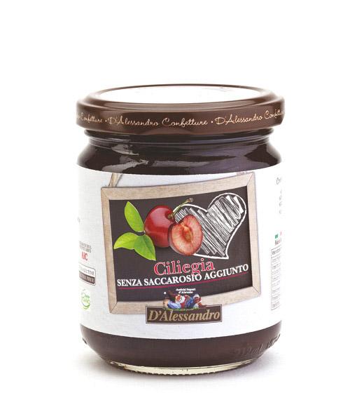 Конфитюр из вишни без сахара 230 г, Confettura di ciliegie senza zucchero, D Alessandro confetture 230 gr
