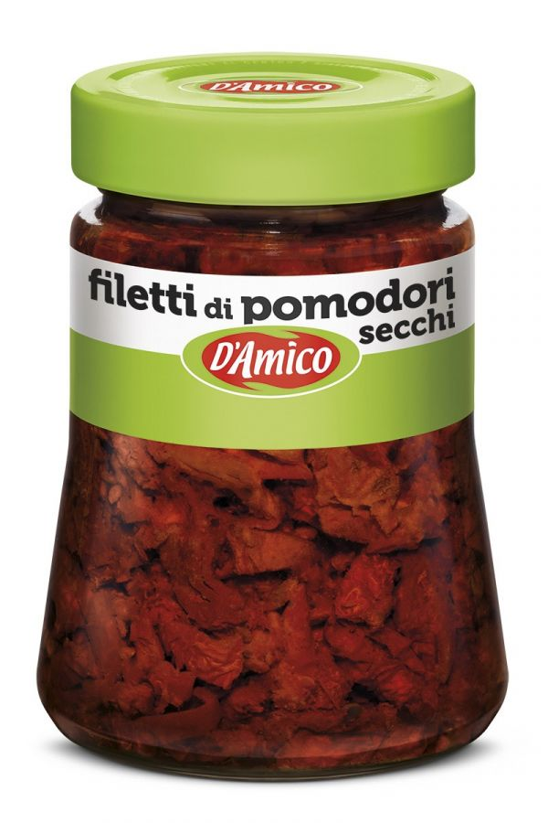 Томаты вяленые резаные 280 г, Filetti di pomodori secchi D'Amico 280 gr.