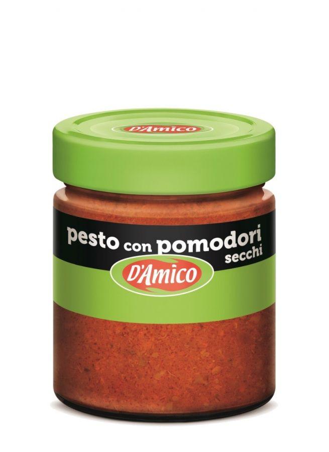 Песто из вяленых томатов 130 г , Pesto di pomodori secchi D'Amico 130 gr.