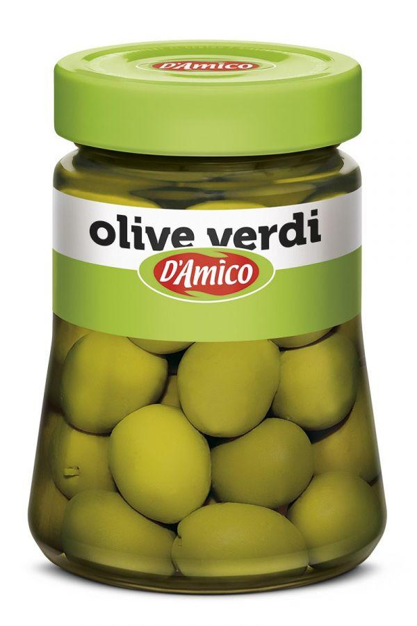 Оливки зеленые в рассоле 300 г, Olive verdi D'Amico 300 g