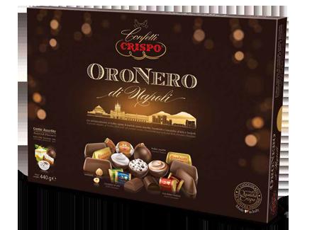Шоколадные конфеты Черное золото 440 г, Oro nero, Crispo, 440  gr