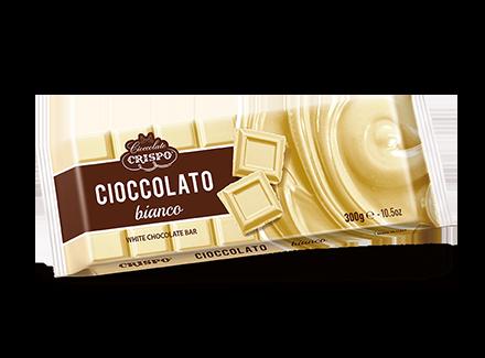 Шоколад белый 300 г, Tavoletta di cioccolato bianco, Confetti Crispo, 300 gr