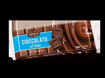 Шоколад молочный 300 г, Tavoletta di cioccolato al latte, Confetti Crispo, 300 gr