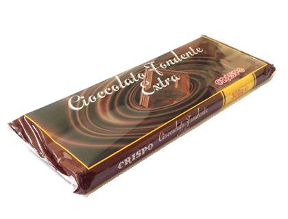Шоколад темный 300 г, Tavoletta di cioccolato fondente extra, Confetti  Crispo, 300 gr