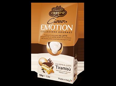 Шоколадное драже с кремом Тирамису 150 г, Cioco emotion Tiramisu', Confetti Crispo, 150 gr