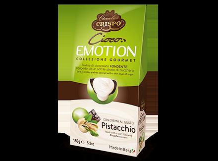 Шоколадное драже с фисташковым кремом 150 г, Cioco emotion Pistacchio, Confetti Crispo, 150 gr