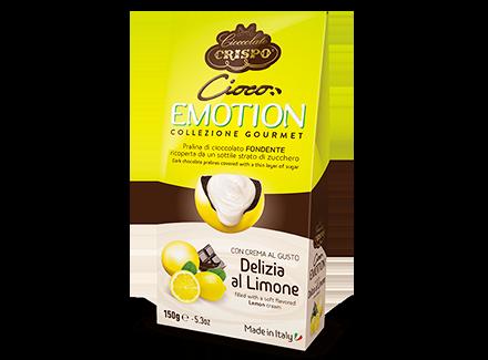Шоколадное драже с лимонным кремом 150 г, Cioco emotion Limone, Confetti Crispo, 150 gr