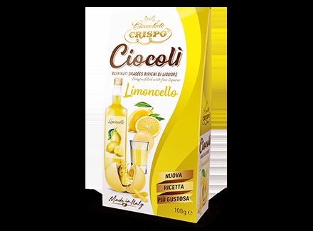 Драже из белого шоколада с лимончелло 100 г, Ciocoli' Limoncello, Confetti Crispo, 100 gr