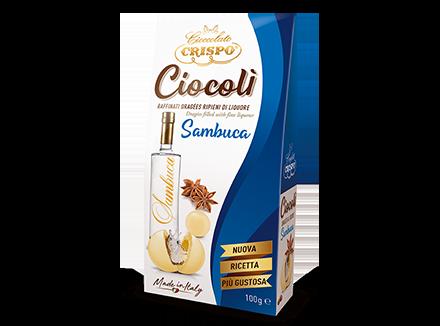 Драже из белого шоколада со вкусом самбуки 100 г, Ciocoli' al gusto di sambuca, Confetti Crispo, 100 gr