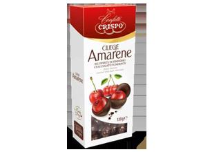 Вишня в темном шоколаде 130 г, Ciliegie ricoperte di cioccolato fondente, Confetti Crispo, 130 gr