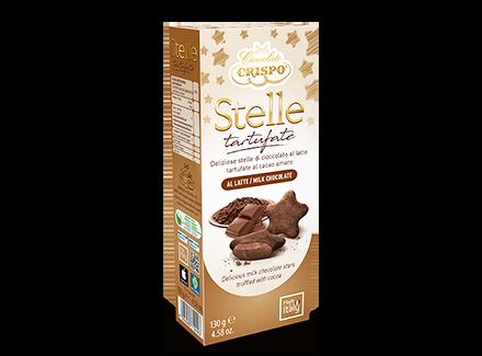 Конфеты из молочного шоколада Трюфельные звезды 130 г, Stelle tartufate al latte, Confetti Crispo, 130 gr