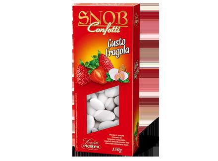Миндаль в белом шоколаде со вкусом клубники 150 г, Confetti Snob Fragola, Confetti Crispo, 150 gr