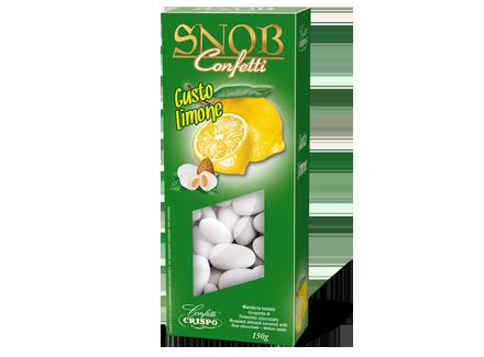 Миндаль в белом шоколаде со вкусом лимона 150 г, Confetti Snob Limone, Confetti Crispo, 150 gr