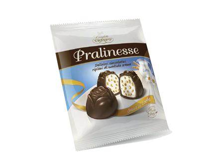 Конфеты Пралинессе мол.100 г, Pralinesse Crispo g 100 latte