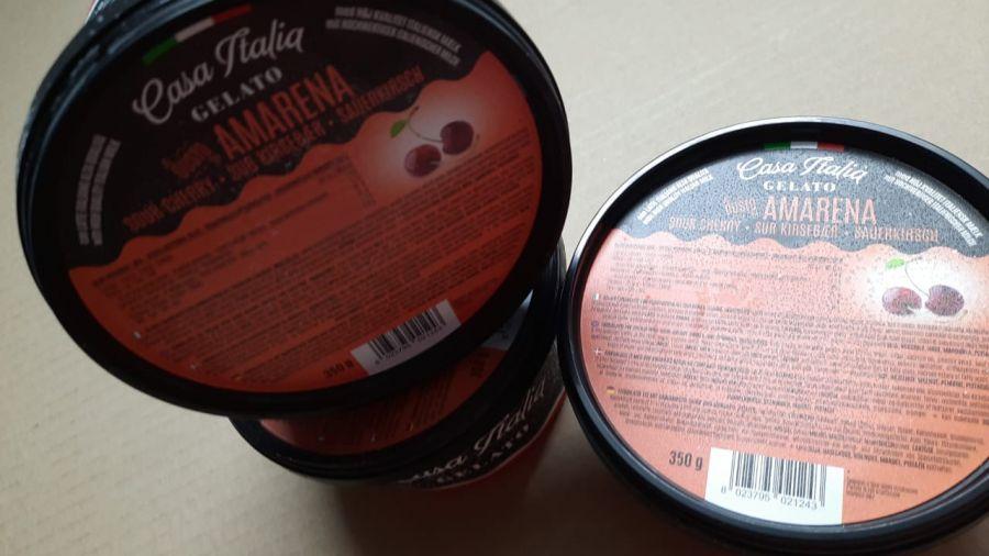 Сливочное мороженое с вишневым сиропом 350 г, Gelato Amarena, Casa Italia 350 g