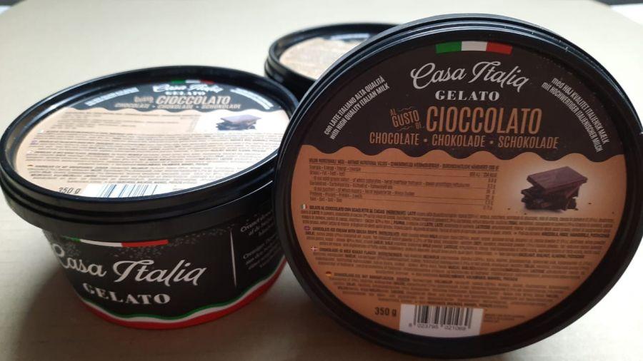 Мороженое шоколадное с шоколадными чипсами 350 г, Gelato Cioccolato, Casa Italia 350 g
