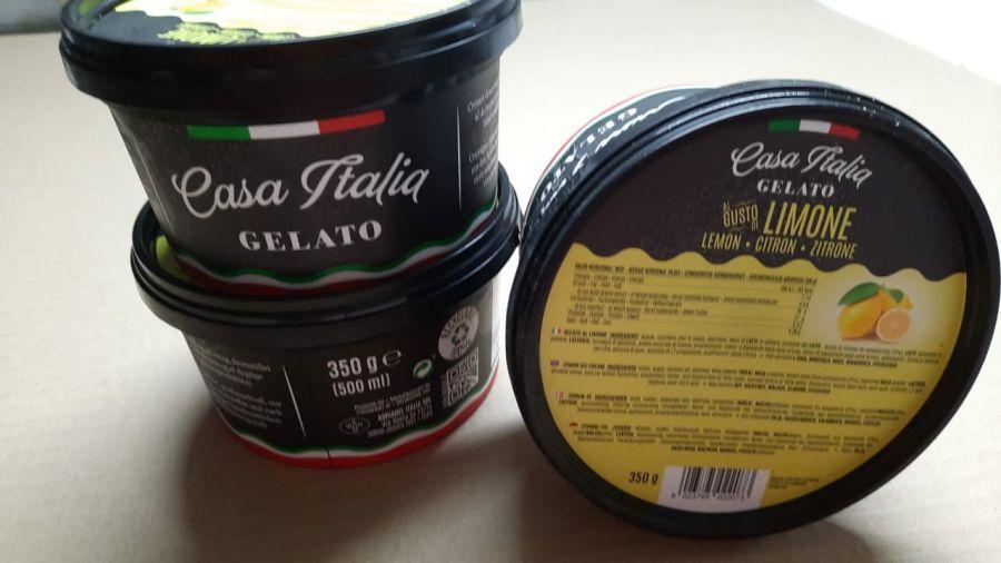 Мороженое фруктовое Лимонное 350 г, Gelato Limone, Casa Italia 350 g