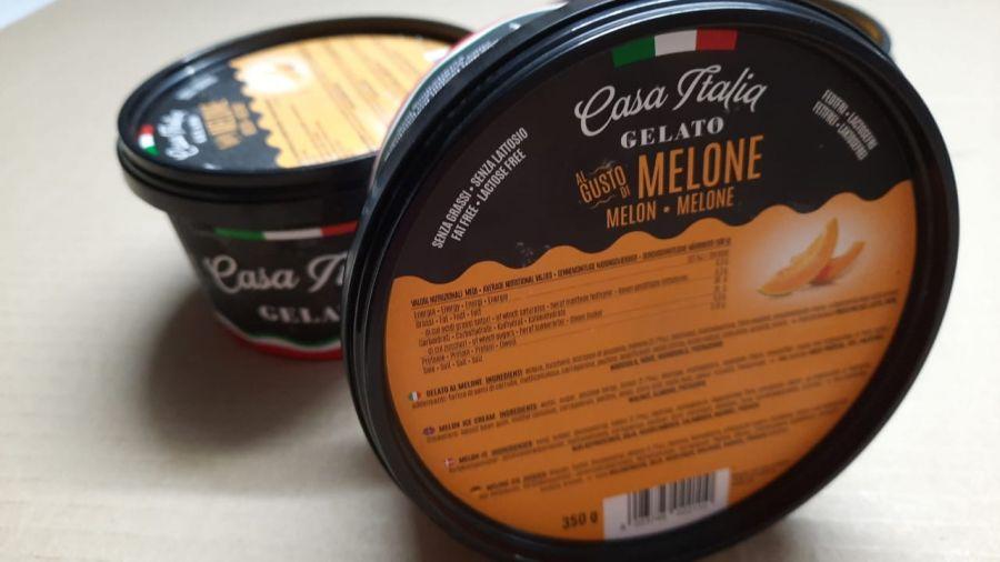 Мороженое фруктовое Дыня 350 г, Gelato Melone , Casa Italia 350 g