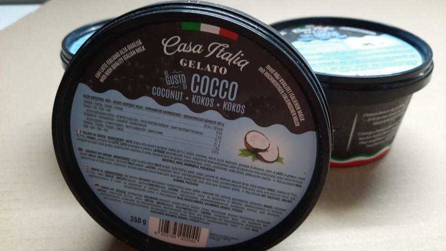 Мороженое кокосовое 350 г, Gelato Coconut, Casa Italia 350 g