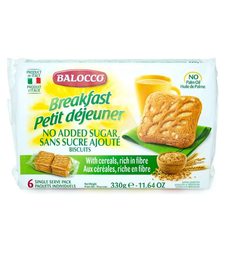 Печенье злаковое без сахара 330 г, Breakfast senza zucchero cereali Balocco 330 gr