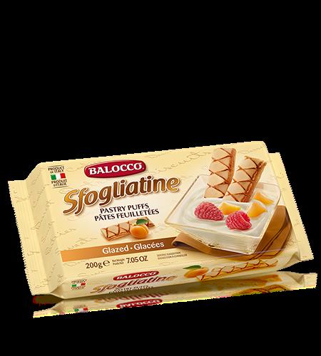 Печенье Слойки глазированные 200 г, Sfogliatine Balocco 200 gr