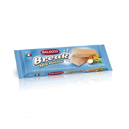 Вафли с молочным кремом 90 г, Break milk vaniglia wafers 90 gr
