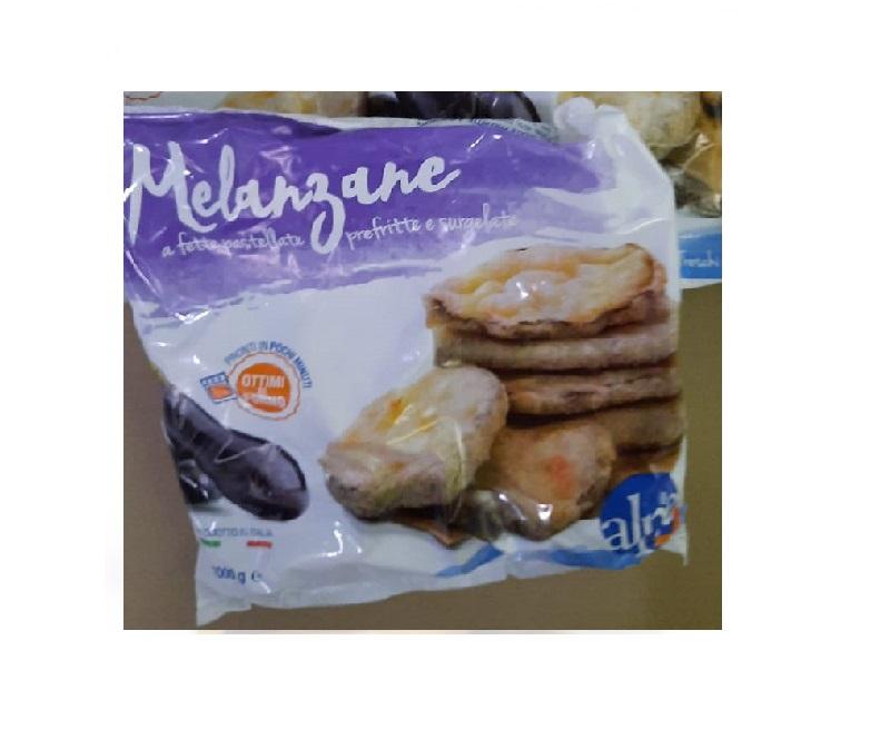 Баклажаны в панировке 1000 г, MELANZANE A FETTE PASTELLATE PREFRITTE E SURGELATE,  Alpe, 1000 g