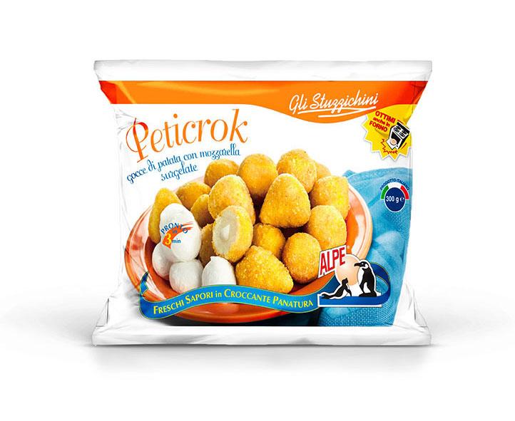 Картофельные шарики в панировке с моцареллой 300 г, PETICROK CROCCHETTE DI PATATE CON MOZZARELLA, Alpe, 300 g